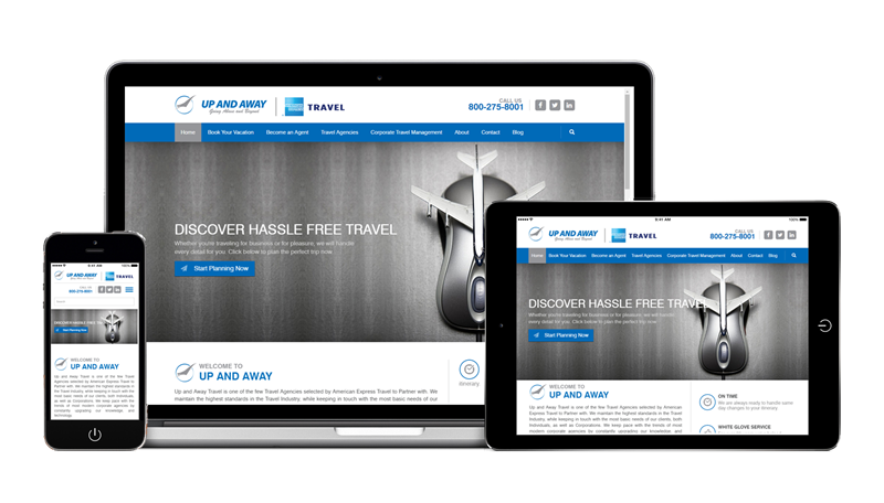 Design Sample Up And Away Responsive Web Design