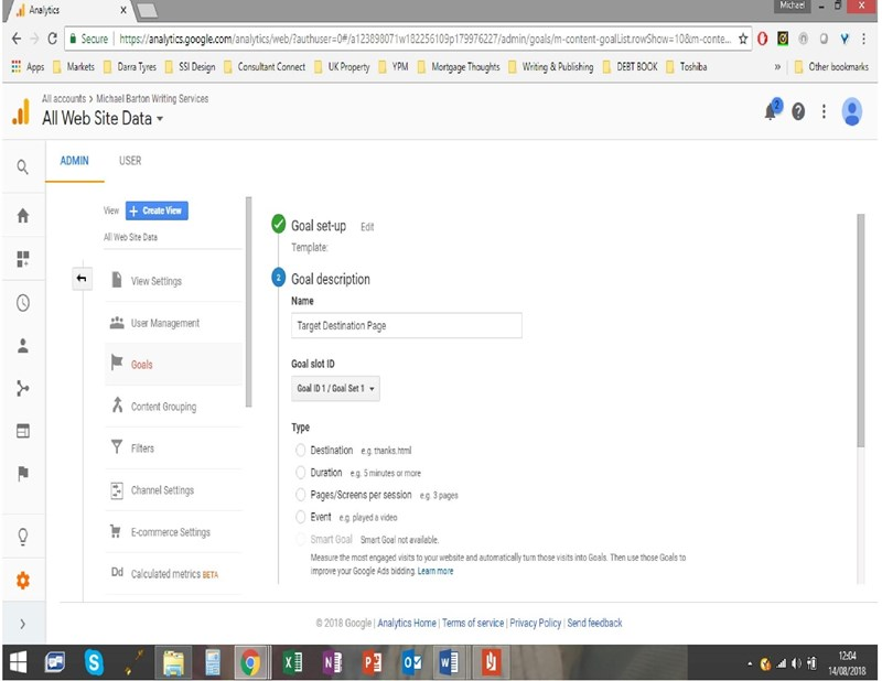 Setup Conversion Tracking in Google Analytics - Step 4